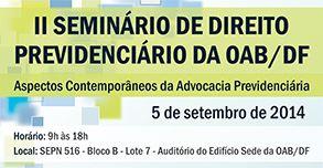 II Seminário de Direito Previdenciário da OAB/DF