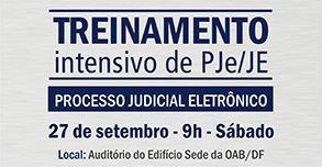 Treinamento Intensivo de PJe/JE – Sede da OAB/DF