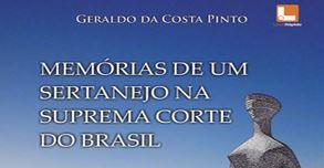 Lançamento livro: Memórias de um sertanejo na Suprema Corte do Brasil