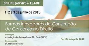 banner-293x152Formas Inovadoras de Construção de  Consenso no Direito